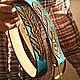 Women's leather belt handmade. Straps. schwanzchen. My Livemaster. Фото №5