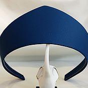 Русский стиль handmade. Livemaster - original item Blue kokoshnik CORNFLOWER MEADOW made of eco leather. Handmade.