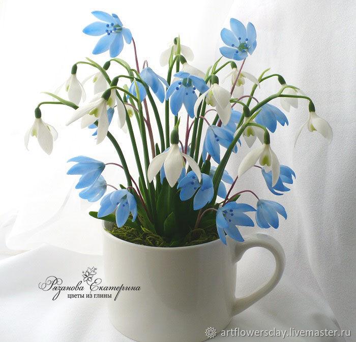 Цветы из полимерной глины, Букеты, Волгоград,  Фото №1