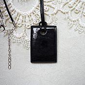 Украшения handmade. Livemaster - original item pendant of black jade. Handmade.