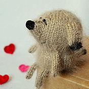 Подарки к праздникам ручной работы. Ярмарка Мастеров - ручная работа Вязаный щеночек / вязаная игрушка собака амигуруми. Handmade.