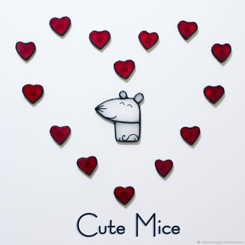 Подарок на День святого Валентина девушке Cute Mice  #86, Магниты, Новосибирск,  Фото №1