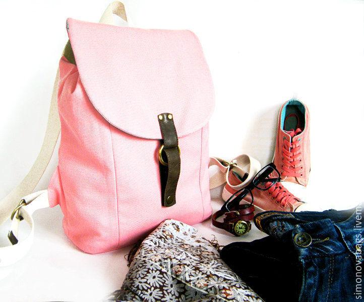 3c20fe7eb592 женский розовый рюкзак, повседневный рюкзак, рюкзак с китами из ткани  розовый, ...