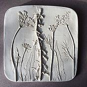Картины и панно handmade. Livemaster - original item Weed Gypsum panels. Handmade.
