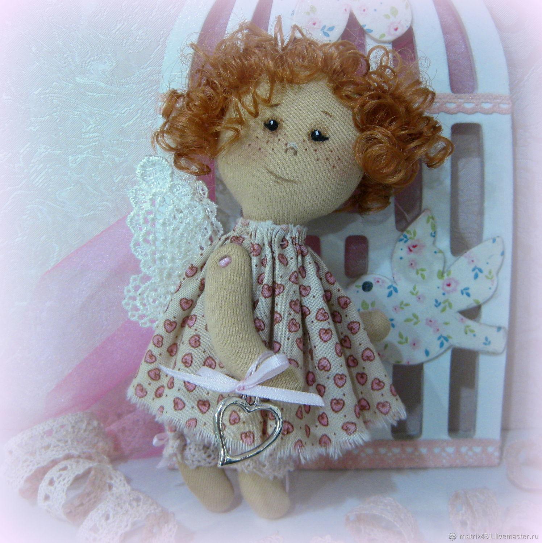 Текстильный ангел подвеска