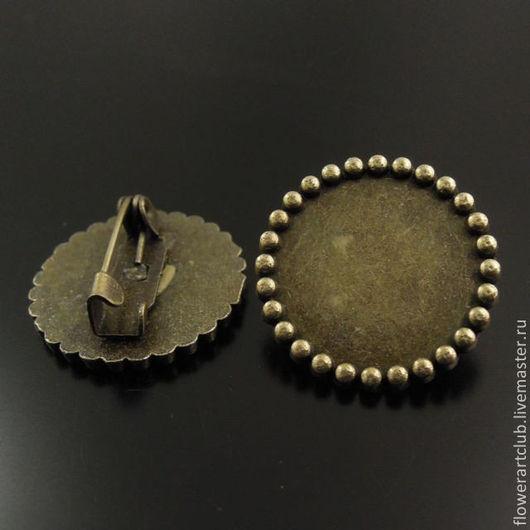 Другие виды рукоделия ручной работы. Ярмарка Мастеров - ручная работа. Купить Основа для броши круглая - диаметр 20 мм. Handmade.