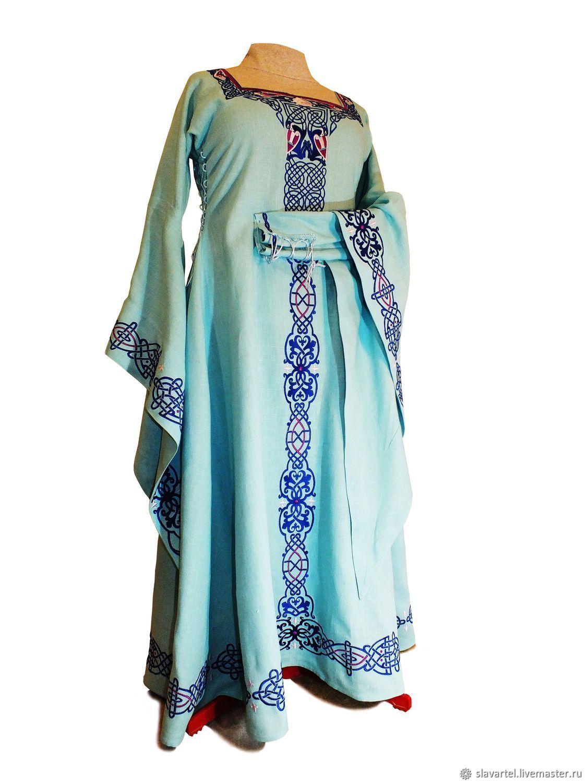 919ecf6a26 Dresses handmade. Livemaster - handmade. Buy Medieval linen dress   sea  Princess   ...