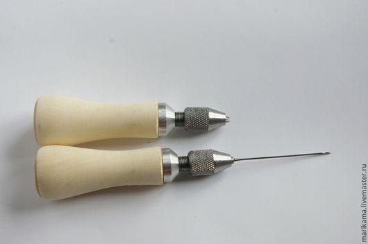 Валяние ручной работы. Ярмарка Мастеров - ручная работа. Купить Ручка цанговая, крючки для прошивки. Handmade. Ручка цанговая