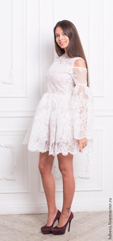 Платья ручной работы. Ярмарка Мастеров - ручная работа. Купить Кружевная нежность. Handmade. Белый, свадебное платье, платье на вечеринку