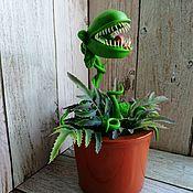 Статуэтка ручной работы. Ярмарка Мастеров - ручная работа Хищное растение. Handmade.
