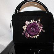 """Классическая сумка ручной работы. Ярмарка Мастеров - ручная работа Классическая сумка: """"Пурпурный букет для любимой"""". Handmade."""