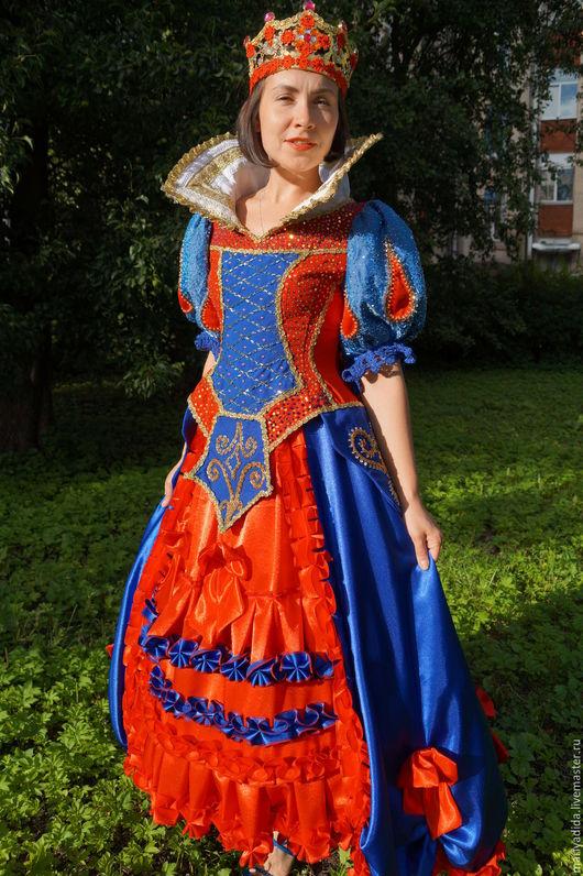 Карнавальные костюмы ручной работы. Ярмарка Мастеров - ручная работа. Купить королева. Handmade. Комбинированный, белоснежка, креп-сатин