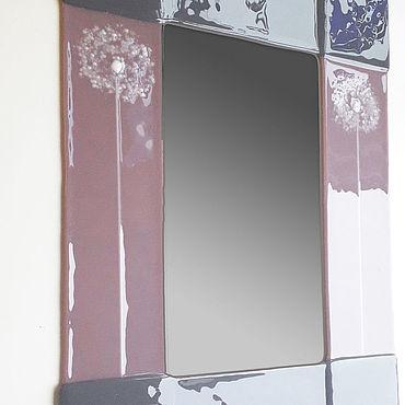 Для дома и интерьера ручной работы. Ярмарка Мастеров - ручная работа Зеркало в раме из стекла.. Handmade.
