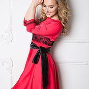 Платье 067 3 красный marina