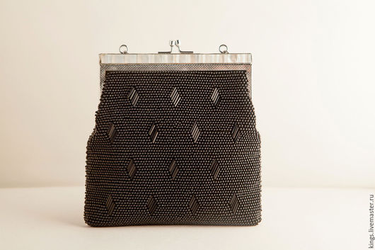 Винтажные сумки и кошельки. Ярмарка Мастеров - ручная работа. Купить Винтажная сумочка.. Handmade. Черный, сумочка для коктейлей, перламутр натуральный