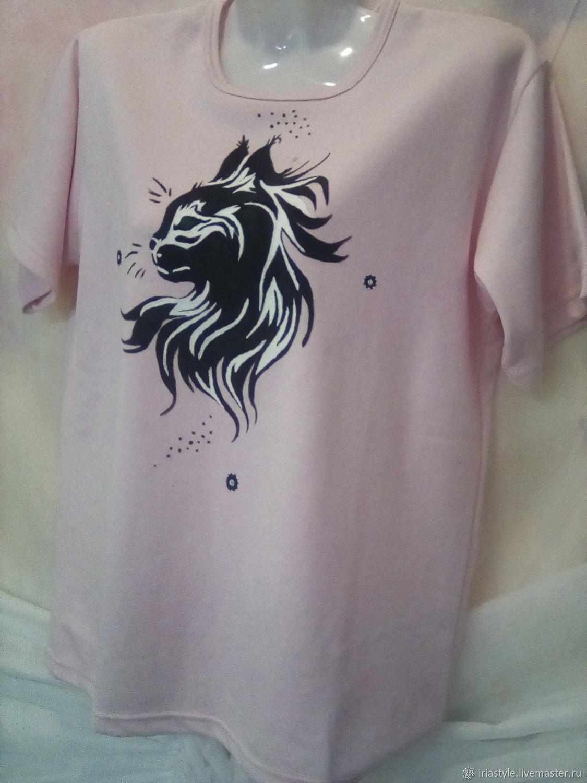 Футболка Розовые мечты,хлопок внутри,поэлистер снаружи, Футболки, Аша,  Фото №1