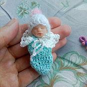 Куклы Reborn ручной работы. Ярмарка Мастеров - ручная работа Мини малышка 5,5 см. Handmade.