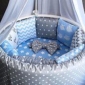 Комплекты одежды ручной работы. Ярмарка Мастеров - ручная работа Бортики в кроватку. Handmade.