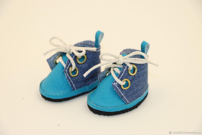 Ботиночки для куклы голубые, Одежда для кукол, Симферополь,  Фото №1