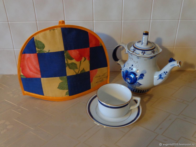 """Грелка на чайник """"Шахматка с розой"""", Грелки на чайник, Балашиха,  Фото №1"""