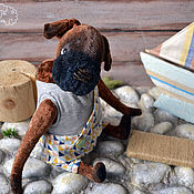 Куклы и игрушки ручной работы. Ярмарка Мастеров - ручная работа Щенок тедди Марли. Handmade.