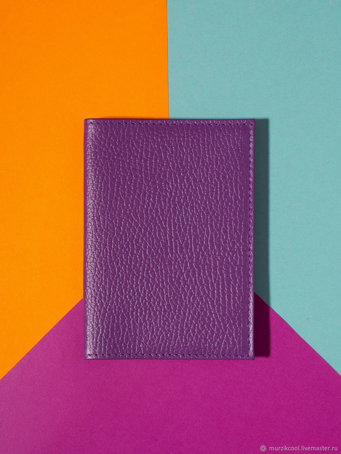 Passport cover 'Classic' Purple, Cover, Moscow,  Фото №1