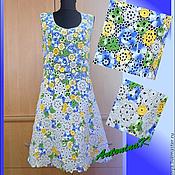 Одежда ручной работы. Ярмарка Мастеров - ручная работа Платье в наборной технике. Handmade.