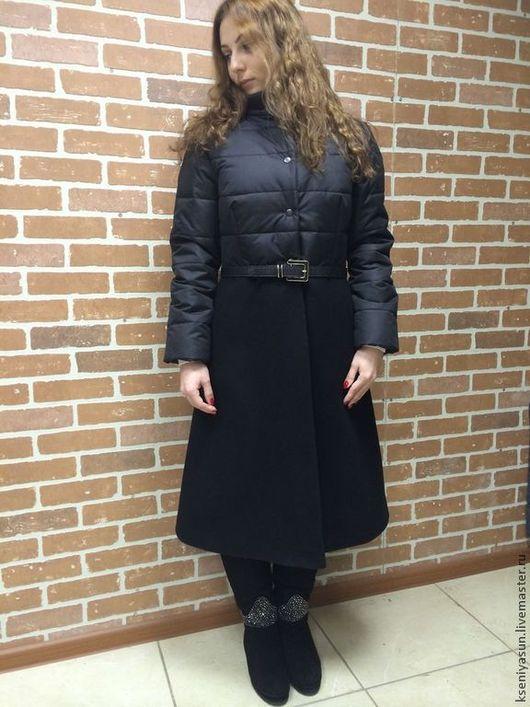 Верхняя одежда ручной работы. Ярмарка Мастеров - ручная работа. Купить Пуховое пальто New winter. Handmade. Черный