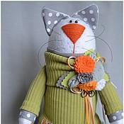 Куклы и игрушки ручной работы. Ярмарка Мастеров - ручная работа Кошка с велосипедом.. Handmade.