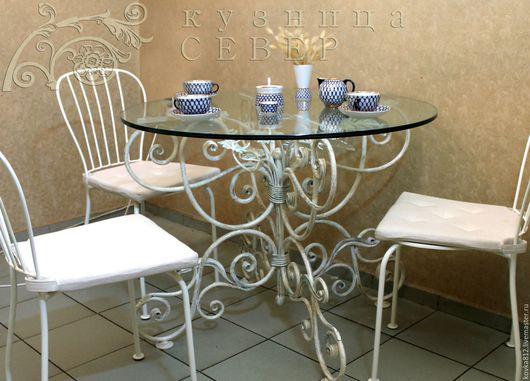 Мебель ручной работы. Ярмарка Мастеров - ручная работа. Купить Кованый стол Альбариньо. Handmade. Белый, мебель для гостинной