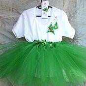 """Работы для детей, ручной работы. Ярмарка Мастеров - ручная работа Новогодний детский костюм """"Ёлочка"""" для девочки. Handmade."""