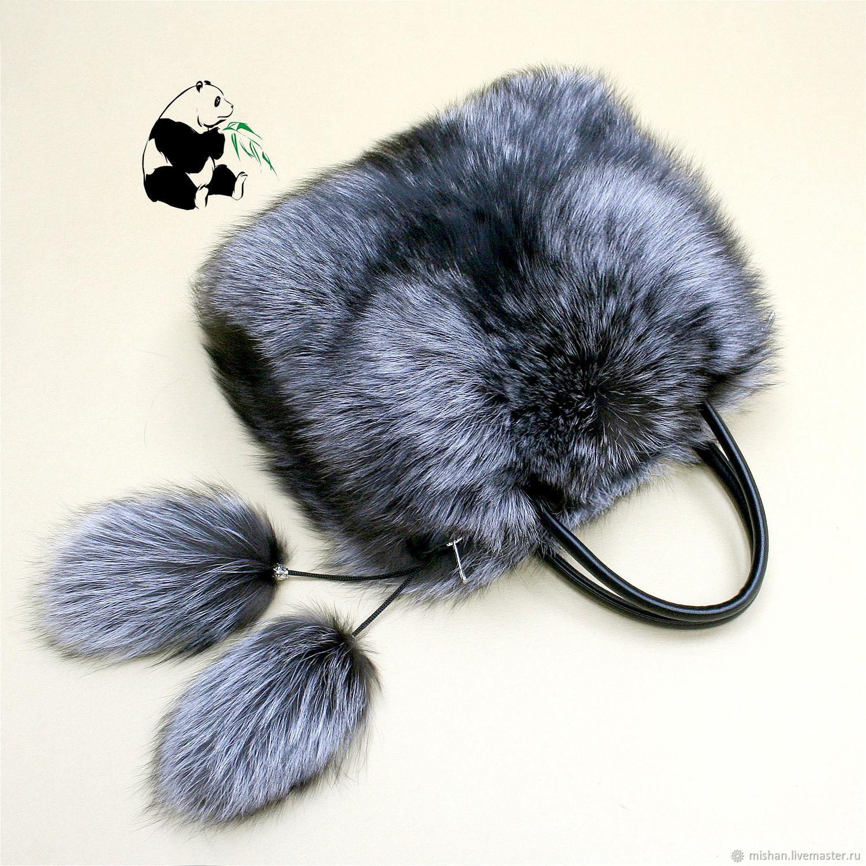 Silver Fox fur bag. Stylish ladies ' accessory №10, Classic Bag, Ekaterinburg,  Фото №1