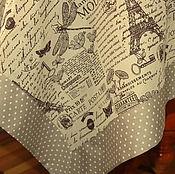 """Для дома и интерьера ручной работы. Ярмарка Мастеров - ручная работа Скатерть льняная """" Париж, воспоминания..."""". Handmade."""