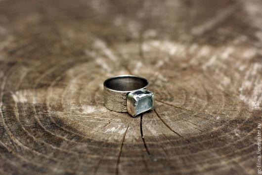"""Кольца ручной работы. Ярмарка Мастеров - ручная работа. Купить Серебряное кольцо """"Осколок льда"""". Handmade. Серебряный, кольцо с камнем"""
