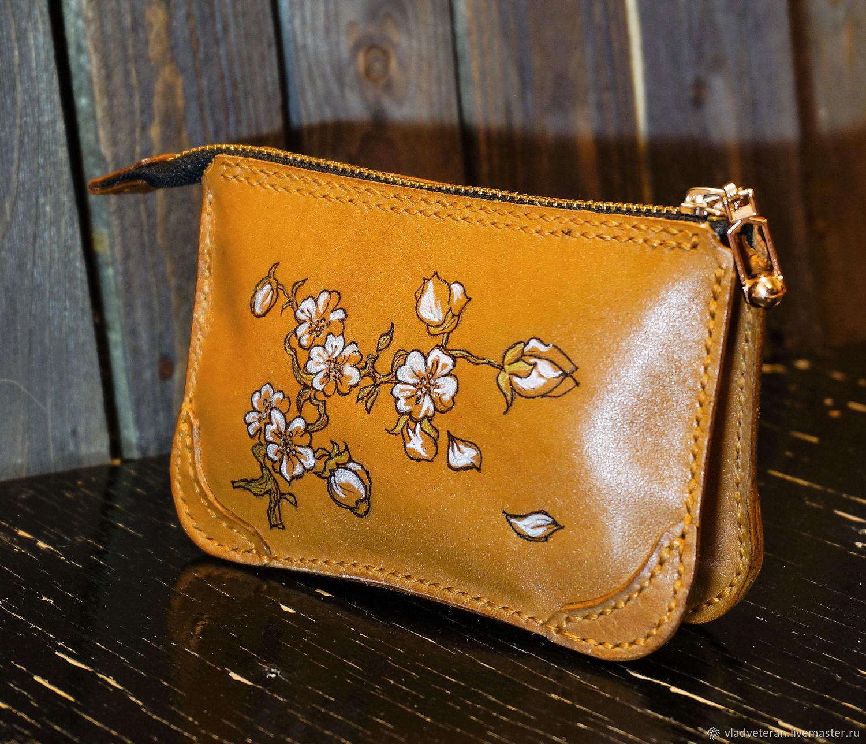 Women's mini wallet ' Sakura Branch', Wallets, Tolyatti,  Фото №1