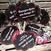 """Комплекты аксессуаров для дома ручной работы. Ярмарка Мастеров - ручная работа Таблички для фотосессии """"Элис"""". Handmade."""