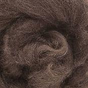 Материалы для творчества ручной работы. Ярмарка Мастеров - ручная работа Як, натуральная темно-коричневая шерсть яка в топсе, 50г. Handmade.