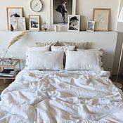 Для дома и интерьера handmade. Livemaster - original item Set of bed linen. 3 units 100% linen. Softened.. Handmade.