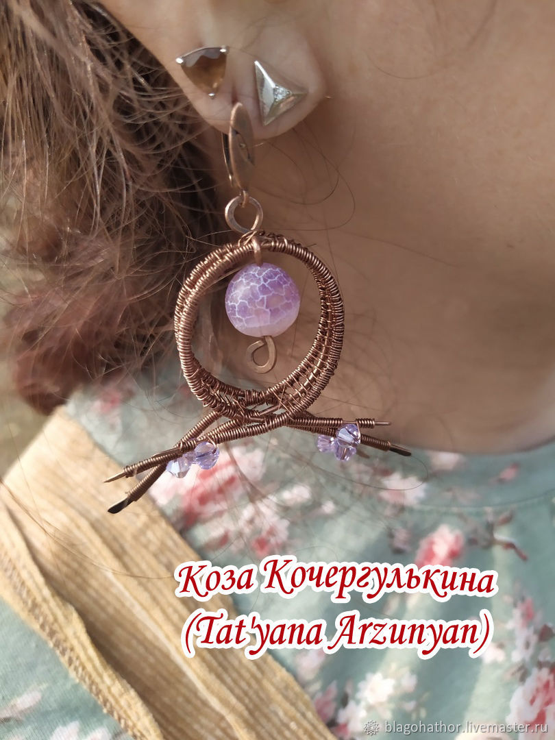 Earrings MEDITATION, Earrings, Bratsk,  Фото №1