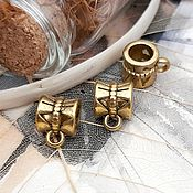 Материалы для творчества handmade. Livemaster - original item Bail for pendants, pendants antique gold (Ref. 2211). Handmade.