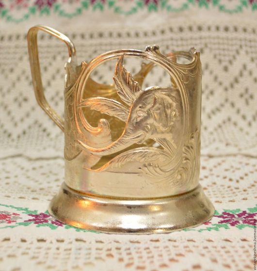 Винтажная посуда. Ярмарка Мастеров - ручная работа. Купить Подстаканник Слон 1950-е года. Handmade. Золотой, чай