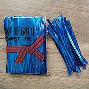 Скрутки  для пакетов  800 шт. упаковка. 3 цвета.