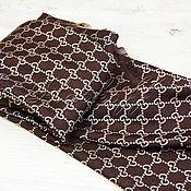 Аксессуары handmade. Livemaster - original item Brown handkerchief fabric multicolour Gucci Monogram. Handmade.