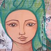 """Картины и панно ручной работы. Ярмарка Мастеров - ручная работа Картина в смешанной технике """"Флора"""". Handmade."""