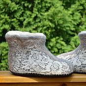 """Обувь ручной работы. Ярмарка Мастеров - ручная работа Чуни """"Кружевные"""". Handmade."""