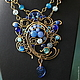 Necklaces & Beads handmade. Necklace Jamilya. color of magic. My Livemaster.Фото №4