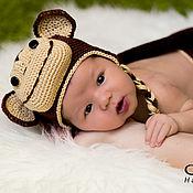 Работы для детей, ручной работы. Ярмарка Мастеров - ручная работа Комплект для фотосессии новорожденных Обезьянка. Handmade.