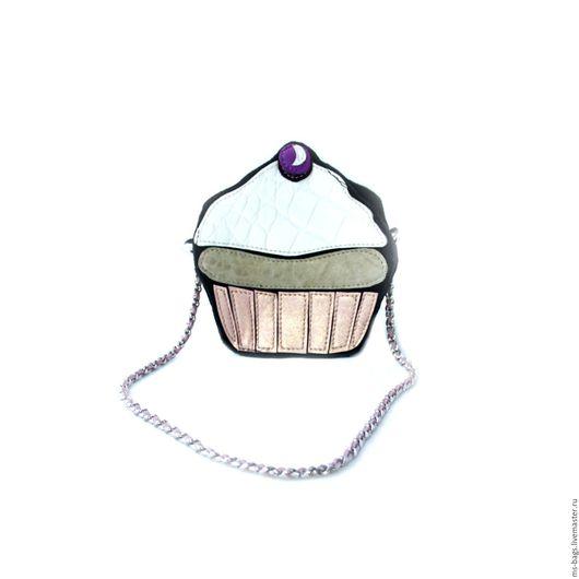 """Женские сумки ручной работы. Ярмарка Мастеров - ручная работа. Купить """"Muffin"""". Handmade. Комбинированный, сумочка через плечо"""