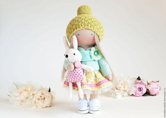 Куклы тыквоголовки ручной работы. Ярмарка Мастеров - ручная работа. Купить Интерьерная кукла Эмма. Handmade. Мятный, handmade