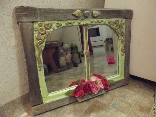 """Зеркала ручной работы. Ярмарка Мастеров - ручная работа. Купить зеркало """"Прованс"""". Handmade. Бежевый, зеркало ручной работы, фанера"""